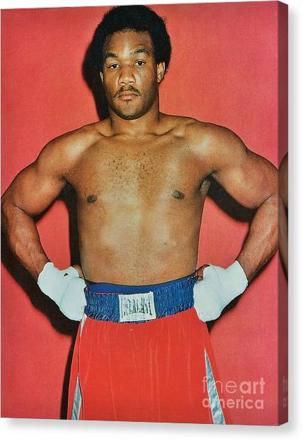 George Foreman Canvas Print - George Foreman 2 by Dennis ONeil