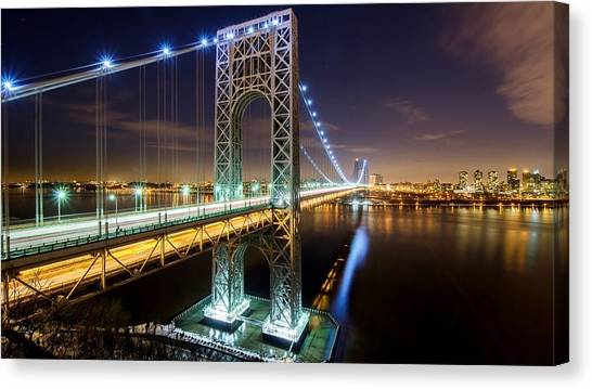 George Washington Canvas Print - George Washington Bridge by Jackie Russo
