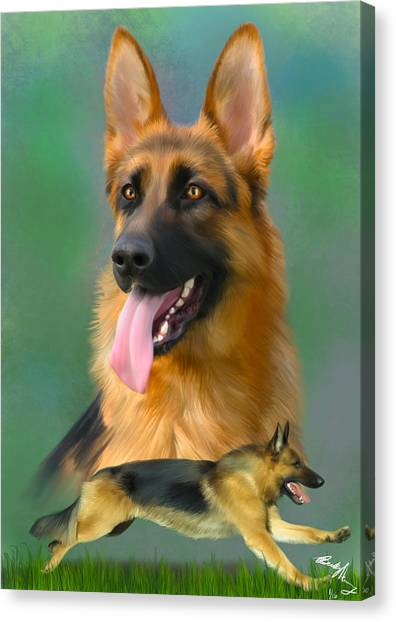 German Shepherd Breed Art Canvas Print