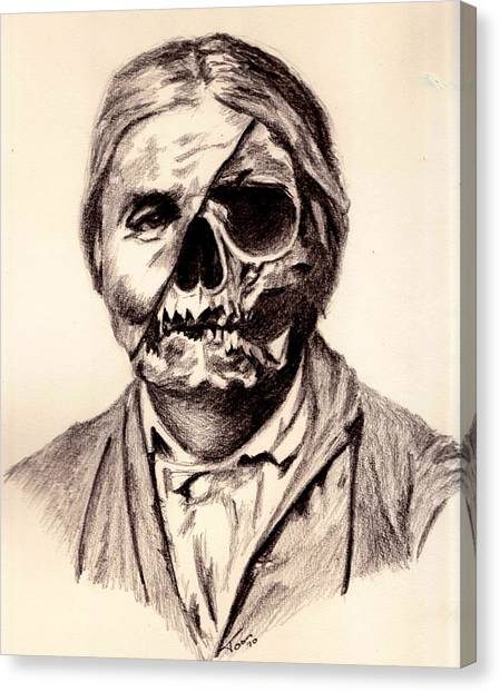 Geronimo's Skull Canvas Print