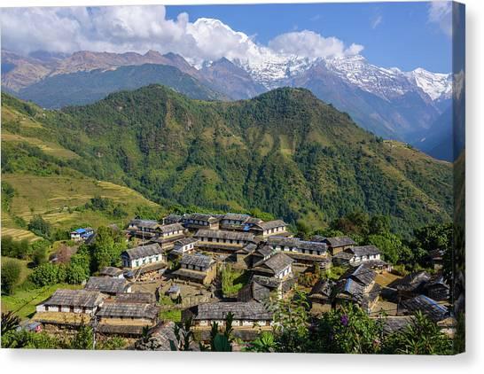 Ghandruk Village In The Annapurna Region Canvas Print