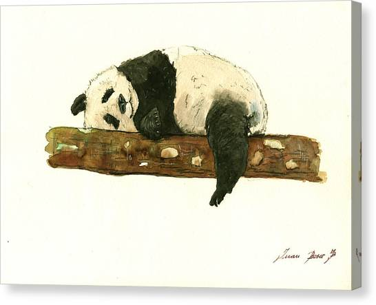 Small Mammals Canvas Print - Giant Panda  by Juan Bosco