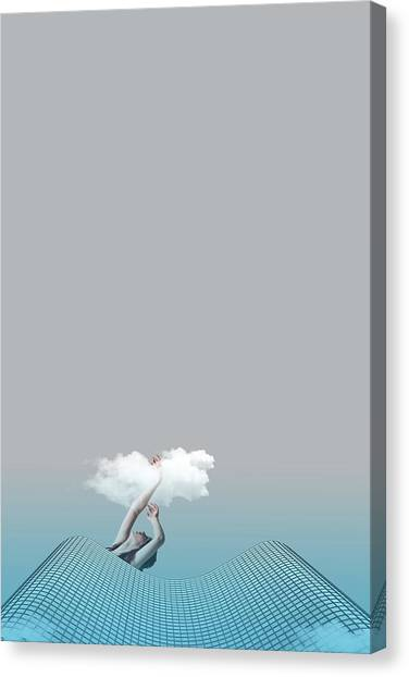 Minimal Canvas Print - Girl In Soul by Caterina Theoharidou