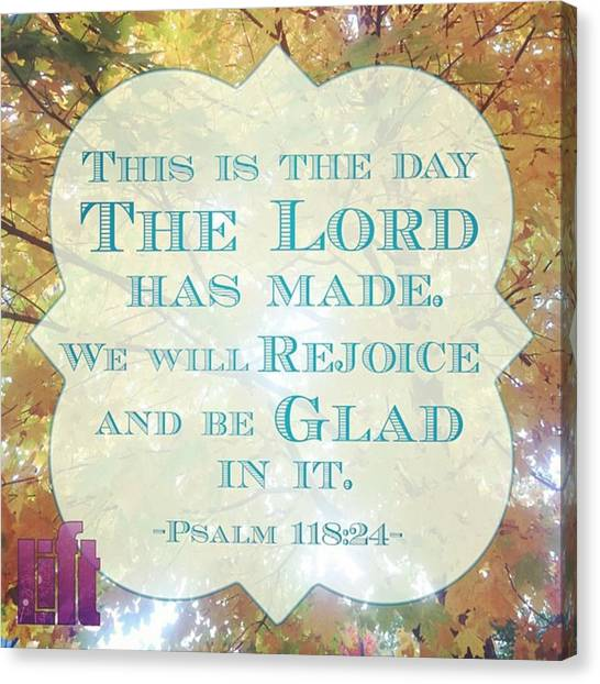 Design Canvas Print - Give Thanks To The Lord, For He Is by LIFT Women's Ministry designs --by Julie Hurttgam
