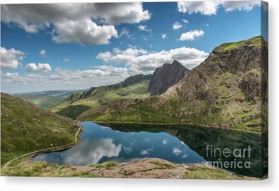 Glaslyn Canvas Print - Glaslyn Lake by Adrian Evans