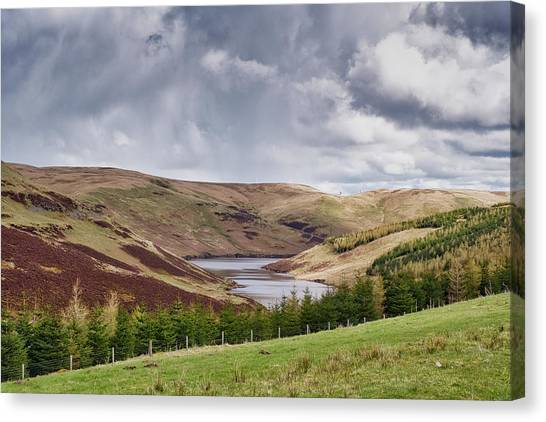 Canvas Print featuring the photograph Glensherup Reservoir by Jeremy Lavender Photography