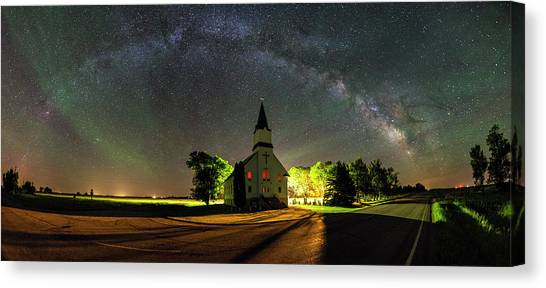 Canvas Print featuring the photograph Glorious Night by Aaron J Groen