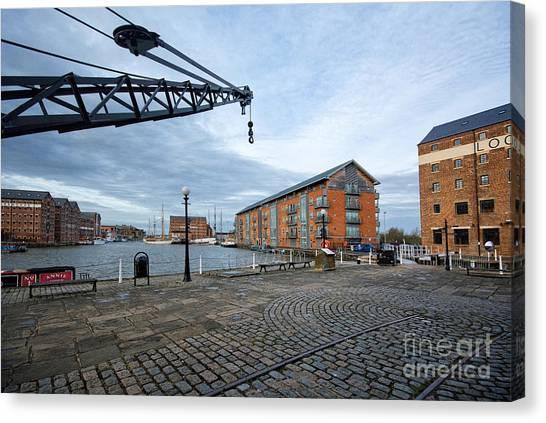 Dock Canvas Print - Gloucester Docks by Smart Aviation