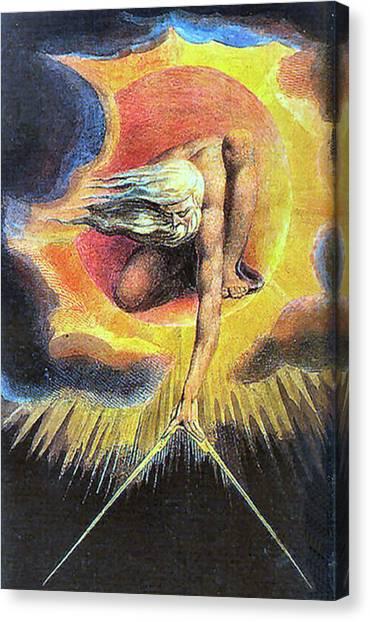 God As Architect Canvas Print