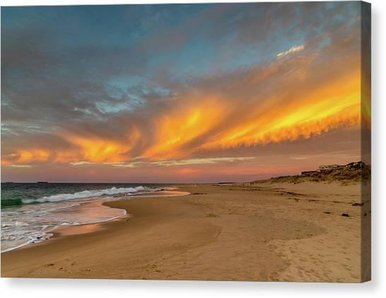 Golden Clouds Canvas Print