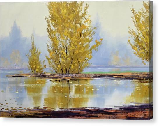 Autumn Scene Canvas Print - Golden Fall by Graham Gercken