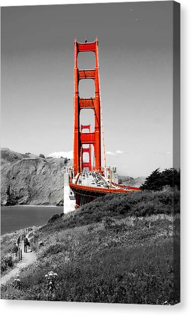 Traffic Canvas Print - Golden Gate by Greg Fortier