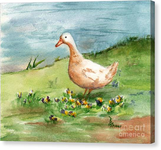 Golden Goose Canvas Print by Brenda Thour