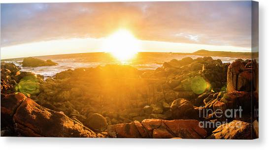 Sunrise Horizon Canvas Print - Golden Hour by Jorgo Photography - Wall Art Gallery