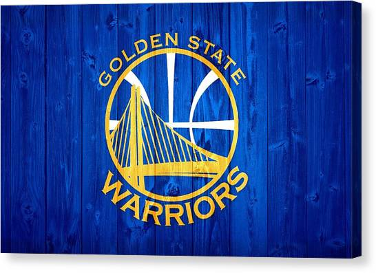 Bachelor Canvas Print - Golden State Warriors Door by Dan Sproul