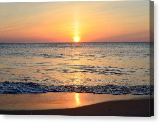 Canvas Print featuring the photograph Golden Sunrise  by Barbara Ann Bell