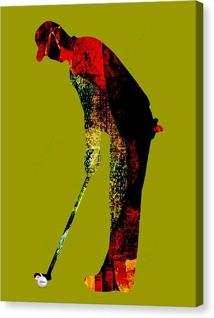 Golf Canvas Print - Golf Collection by Marvin Blaine