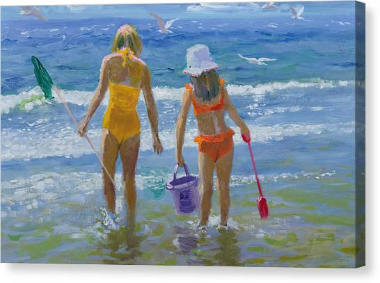Bikini Canvas Print - Gone Fishing  by William Ireland
