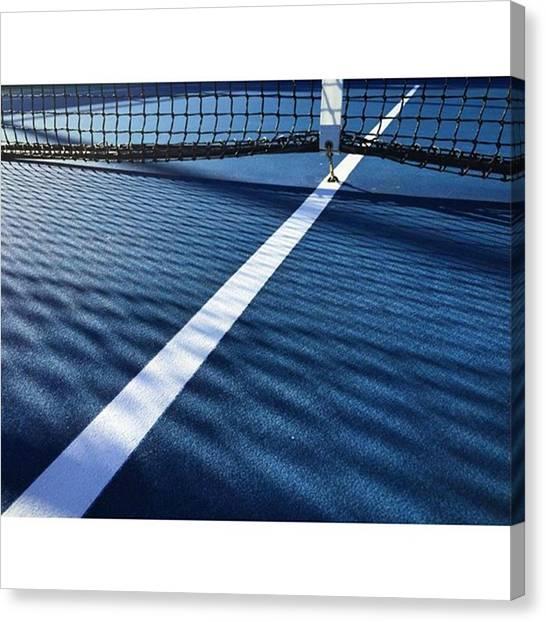 Tennis Canvas Print - Good Morning ! #juansilvaphotos by Juan Silva