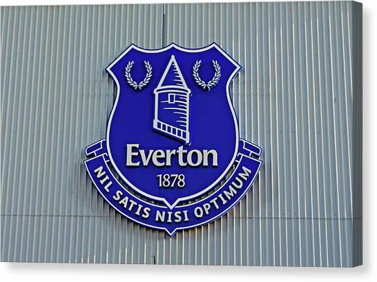 British Premier League Canvas Print - Goodison Park Stadium, Home Of Everton Football Club by Ken Biggs