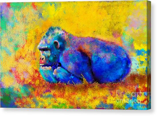 Primates Canvas Print - Gorilla Gorilla by Betty LaRue