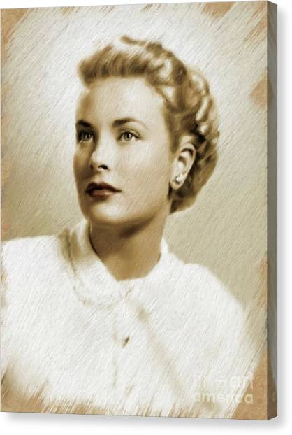 Grace Kelly Canvas Print - Grace Kelly, Vintage Actress by Mary Bassett
