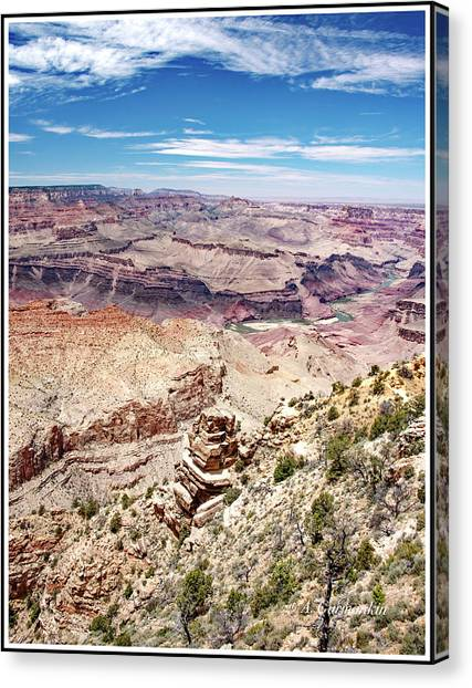Grand Canyon View From The South Rim, Arizona Canvas Print