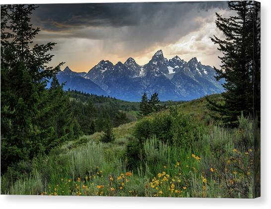 Grand Stormy Sunset Canvas Print