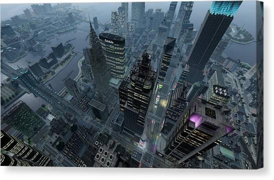 Grand Theft Auto Canvas Print - Grand Theft Auto Iv by Barbara Elvins