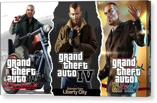Grand Theft Auto Canvas Print - Grand Theft Auto Iv by Super Lovely