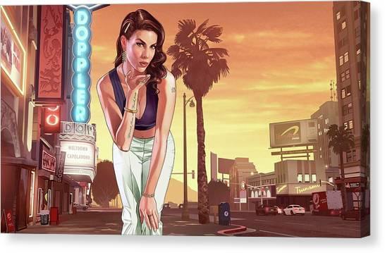 Grand Theft Auto Canvas Print - Grand Theft Auto V by Lissa Barone
