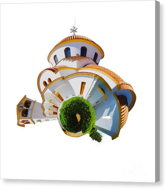 Ancient Art Canvas Print - Greek Orthodox Church by Smart Aviation