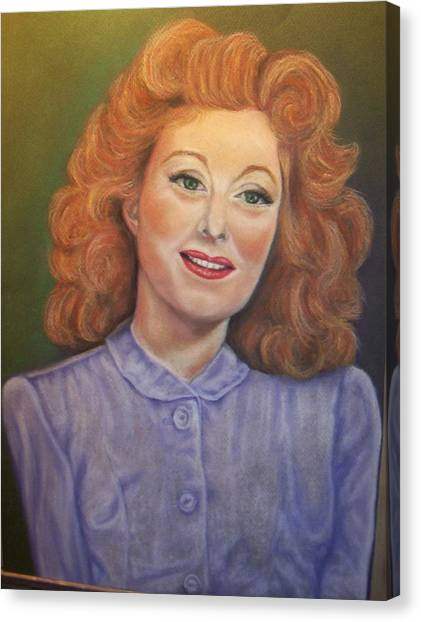Greer Garson Canvas Print by Deborah Steinmetz