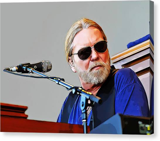 The Allman Brothers Canvas Print - Gregg Allman by Love Art