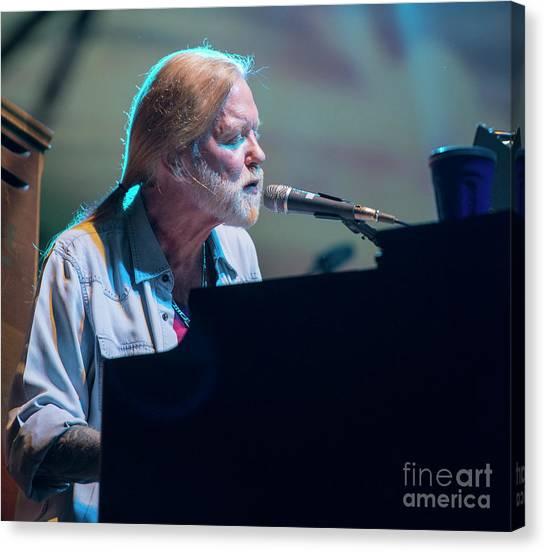 The Allman Brothers Band Canvas Print - Gregg Allman With The Allman Brothers Band by David Oppenheimer