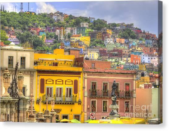 Guanajuato Canvas Print - Guanajuato Mexico  by Juli Scalzi