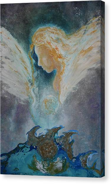 Angelic Encounters  Canvas Print
