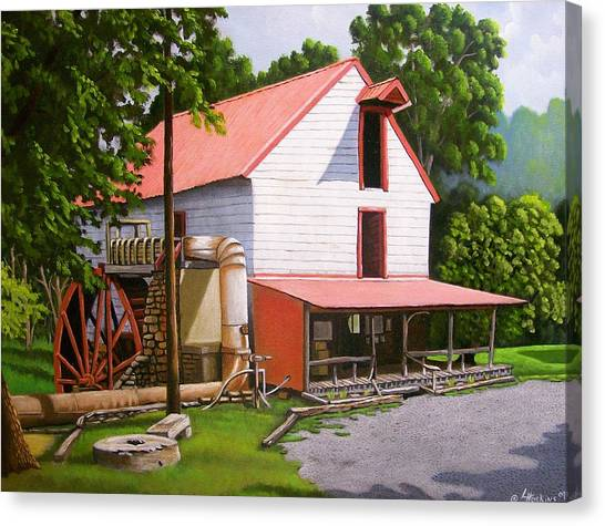 Guilford Mill Canvas Print by Larry Hoskins
