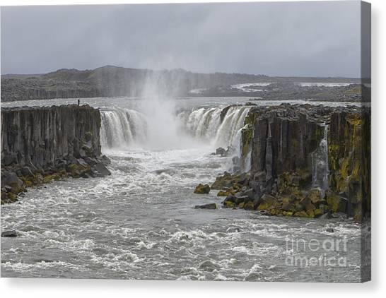 Vatnajokull Glacier Canvas Print - Hafragilsfoss Waterfall, Iceland by Ivan Batinic