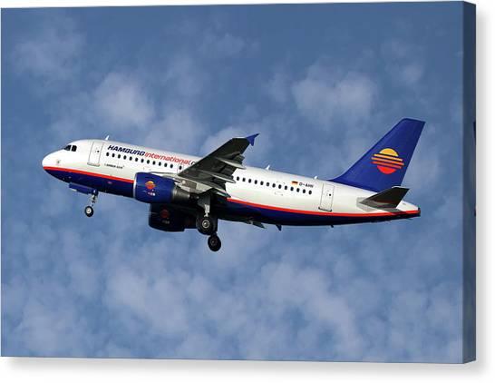 Passenger Plane Canvas Print - Hamburg International Airbus A319-111  by Smart Aviation