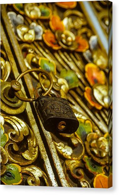 Canvas Print featuring the photograph Hand Carved Security by T Brian Jones