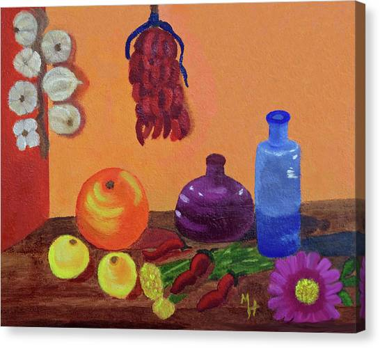 Hanging Around With Spices Canvas Print