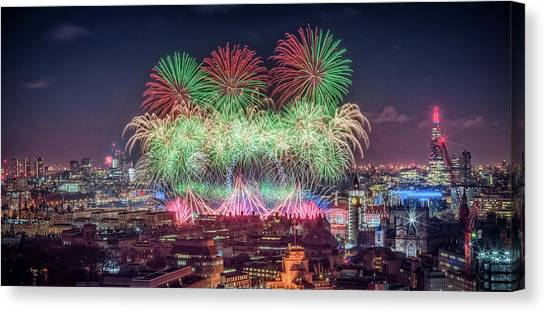 Happy 2018 Canvas Print