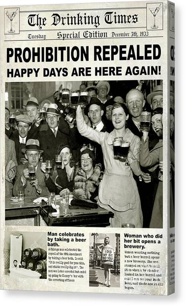 Distillery Canvas Print - Happy Days Are Here Again by Jon Neidert