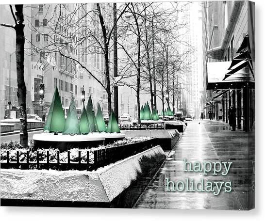 Happy Holidays From Chicago Canvas Print