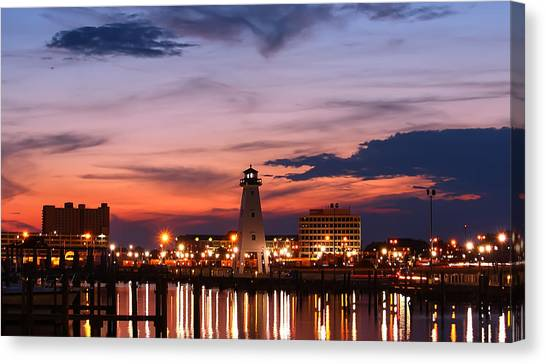 Harbor Lights Canvas Print