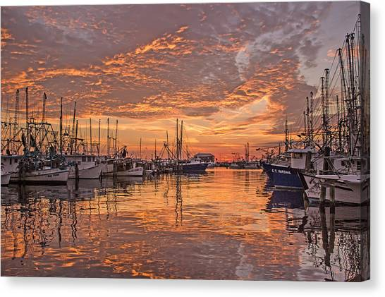 Harboring Reflections Canvas Print