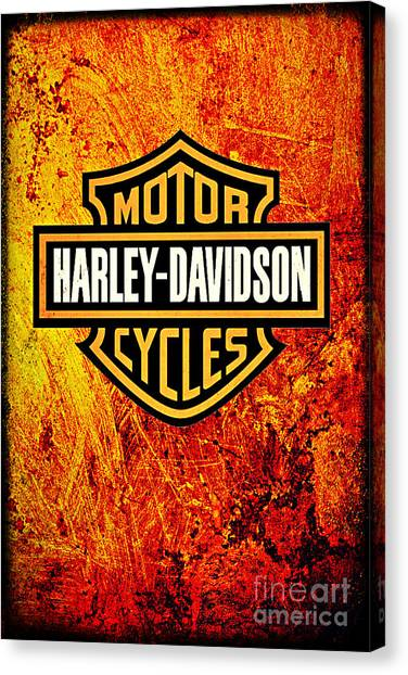 Harley-davidson Canvas Print