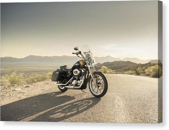 Harley Davidson Canvas Print - Harley-davidson Superlow by Super Lovely