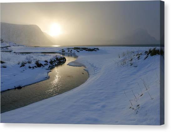 Haukland Beach, Lofoten Canvas Print